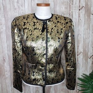 Maggy London | Gold Floral Vintage Blazer Sz 8